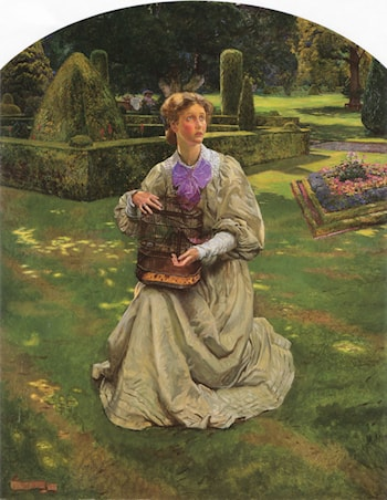 The Caged Bird by John Byam Liston Shaw