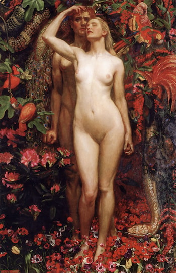 The Woman, the Man and the Serpent by John Byam Liston Shaw