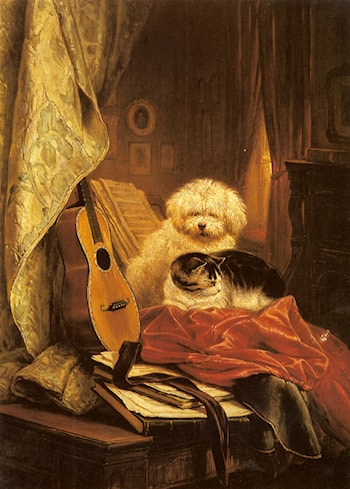 Best Friends by Henriette Ronner-Knip