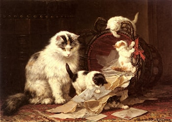 De Snippermand by Henriette Ronner-Knip