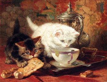 High Tea by Henriette Ronner-Knip
