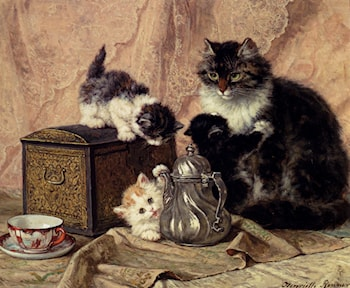 Teatime For Kittens by Henriette Ronner-Knip