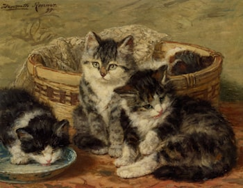 Four Kittens by Henriette Ronner-Knip