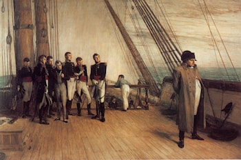 On Board HMS Bellerophon by Sir William Quiller Orchardson