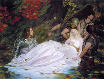Elegy for Darkness­The Lady of Shalott by Donato Giancola