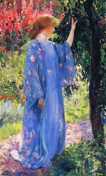 The Blue Kimono by Guy Rose