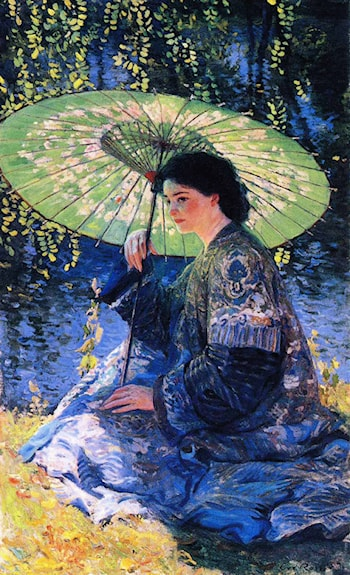 The Green Parasol by Guy Rose