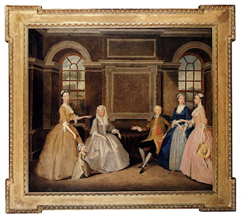 Portrait Of The Broke And The Bowes Families by Thomas Bardwell
