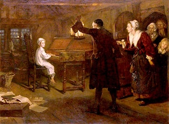 The Child Handel, Discovered by His Parents by Margaret Isabel Dicksee