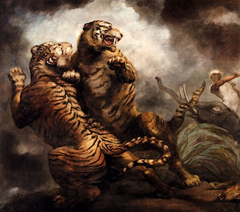 Tiger Hunting by James Northcote, R.A.