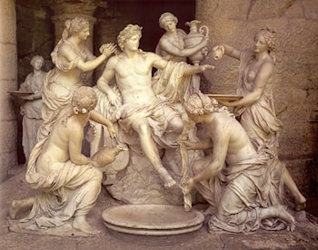 Apollo Tended by the Nymphs by Francois Girardon