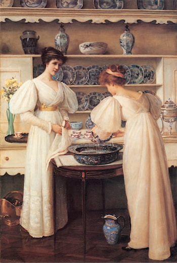 Blue and White by Louise Jopling