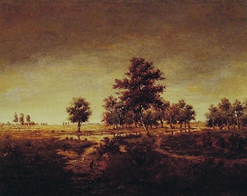 Forest at Fontainebleau by Theodore Rousseau