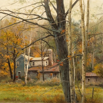 House in the Woods by John Pototschnik