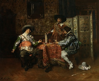 A Game of Cards by Ferdinand Roybet