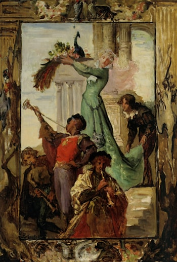 A Musical Fanfare by Ferdinand Roybet