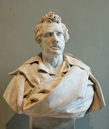 Bust of Jacques Louis David by François Rude