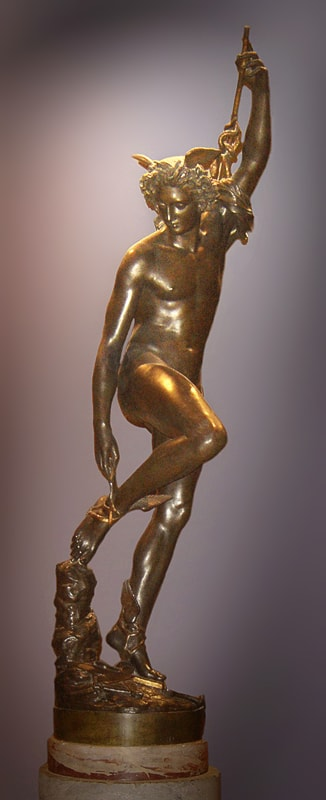 Mercury Fastening His Sandals by François Rude