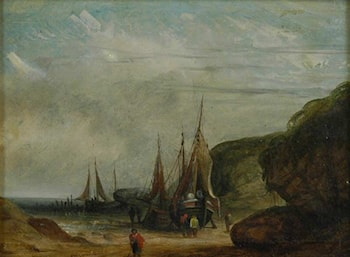 Boats on Shore by James Wilson Carmichael