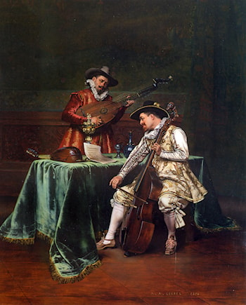 The Musicians by Adolphe Alexandre Lesrel