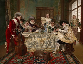 The Practice Recital by Adolphe Alexandre Lesrel