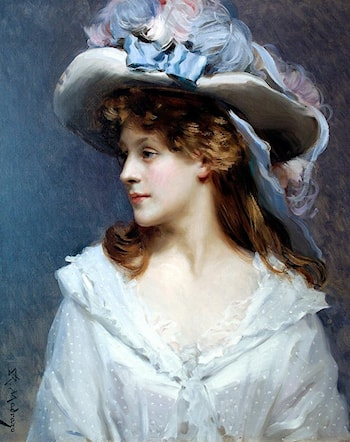Woman in White by Raimundo de Madrazo y Garreta