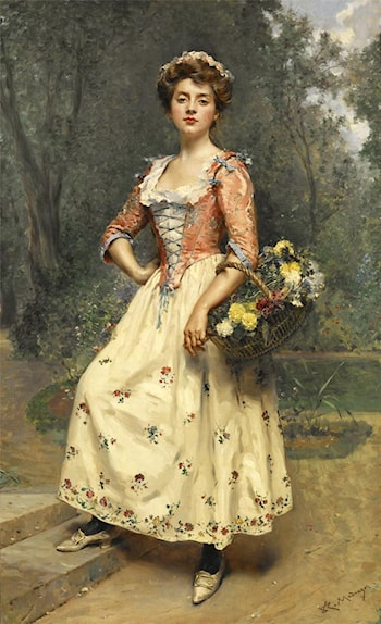 Spring Beauty by Raimundo de Madrazo y Garreta