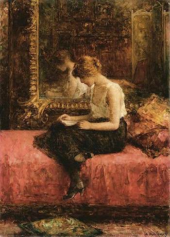 Literary Pursuits of a Young Lady by Alexei Alexeivich Harlamoff