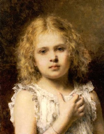 A Young Beauty by Alexei Alexeivich Harlamoff