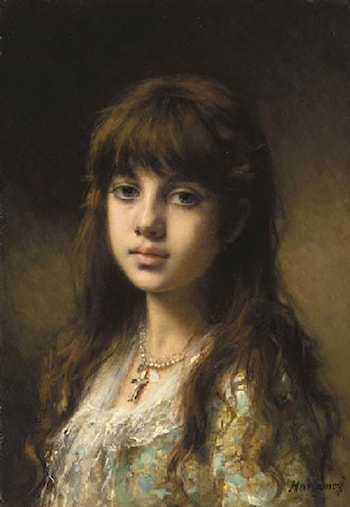 Little Girl by Alexei Alexeivich Harlamoff