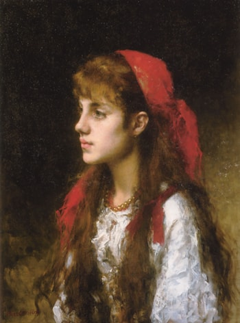 A Russian Beauty by Alexei Alexeivich Harlamoff