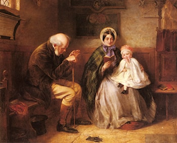 In Church by Edward Hughes