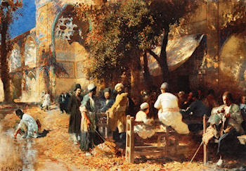 A Persian Cafe by Edwin Lord Weeks