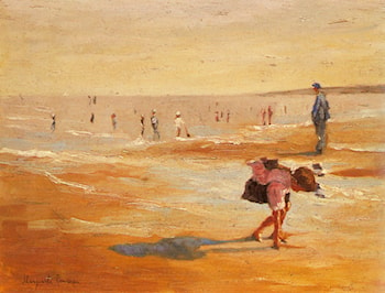 On the Beach by Marguerite Rousseau
