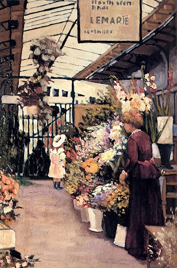 The Flower Market by Marguerite Rousseau