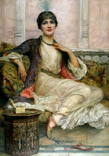 Jade Necklace for an Eastern Princess by William Clarke Wontner
