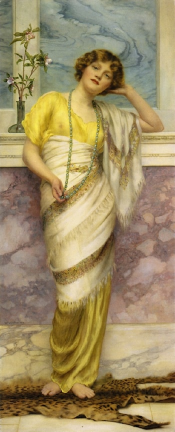The Turquoise Necklace by William Clarke Wontner