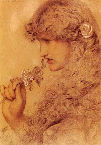 Love's Shadow by Anthony Frederick Sandys