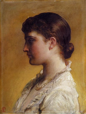 Portrait Of Lillie Langtry by James Sant