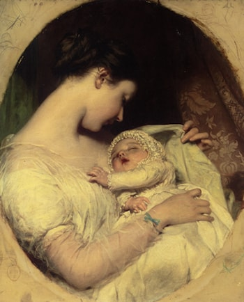 Artists Wife Elizabeth and Daughter by James Sant