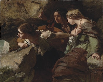 Courage, Anxiety, and Despair Watching the Battle by James Sant