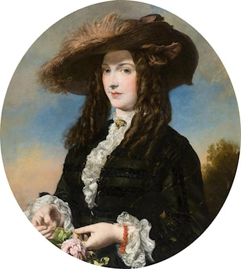 Portrait of a Lady in a Feathered Hat by James Sant