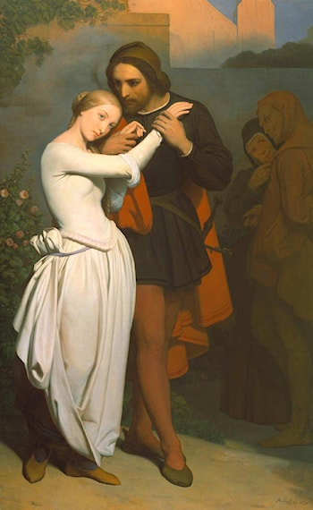 Faust and Marguerite in the Garden by Ary Scheffer
