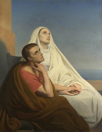 Saint Augustin et sa Mere Monique by Ary Scheffer
