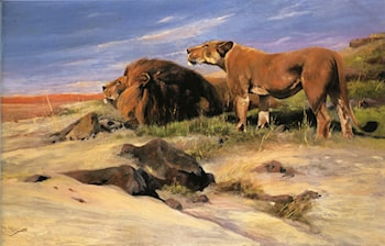 Robbers of the Desert by Wilhelm Kuhnert