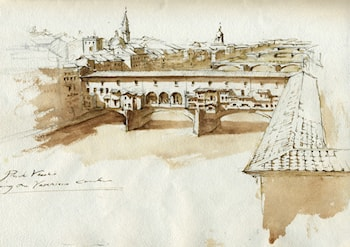 Ponte Vecchio in Florence by Robert Liberace