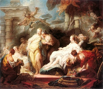 Psyche showing her Sisters her Gifts from Cupid by Jean-Honore Fragonard