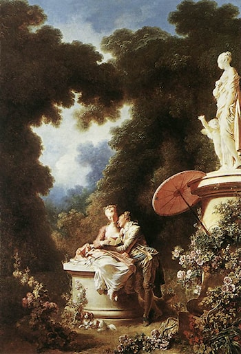 The Confession of Love by Jean-Honore Fragonard