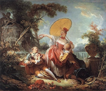 The Musical Contest by Jean-Honore Fragonard