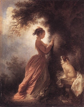 The Souvenir by Jean-Honore Fragonard